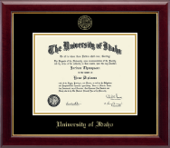 University of Idaho Diploma Frame - Gold Embossed Diploma Frame in Gallery