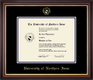 University of Northern Iowa Diploma Frame - Gold Embossed Diploma Frame in Regency Gold
