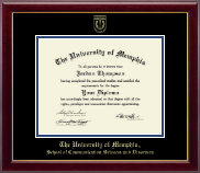 The University of Memphis Diploma Frame - Gold Embossed Diploma Frame in Gallery