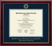 University of North Carolina Chapel Hill Diploma Frame - Gold Embossed Diploma Frame in Gallery