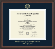 University of North Carolina Chapel Hill Diploma Frame - Gold Embossed Diploma Frame in Regency