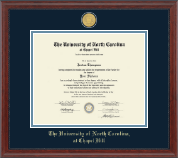University of North Carolina Chapel Hill Diploma Frame - 23K Medallion Diploma Frame in Signature
