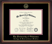 The University of Oklahoma Diploma Frame - Gold Embossed Diploma Frame in Regency Gold