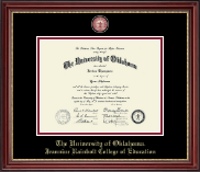 The University of Oklahoma Diploma Frame - Masterpiece Medallion Diploma Frame in Kensington Gold
