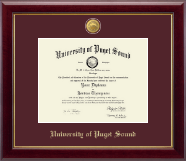 University of Puget Sound Diploma Frame - 23K Medallion Diploma Frame in Gallery