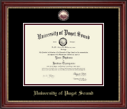 University of Puget Sound Diploma Frame - Masterpiece Medallion Diploma Frame in Kensington Gold