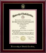 University of South Carolina Diploma Frame - Gold Embossed Diploma Frame in Gallery