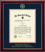 University of Virginia Diploma Frame - Gold Embossed Diploma Frame in Gallery