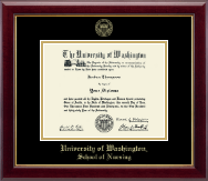 University of Washington Diploma Frame - Gold Embossed Diploma Frame in Gallery