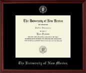 The University of New Mexico Diploma Frame - Silver Embossed Diploma Frame in Camby