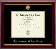 The University of New Mexico Diploma Frame - 23K Medallion Diploma Frame in Gallery
