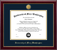 University of Mary Washington Diploma Frame - 23K Medallion Diploma Frame in Gallery