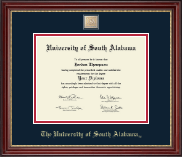University of South Alabama Diploma Frame - Masterpiece Diploma Frame in Kensington Gold