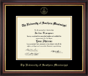 Gold Embossed Edition Diploma Frame in Regency Gold