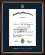 United States Naval Academy Diploma Frame - Gold Embossed Diploma Frame in Regency Gold