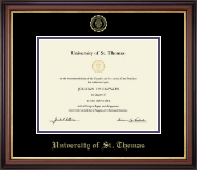 University of St. Thomas Diploma Frame - Gold Embossed Diploma Frame in Regency Gold