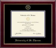 University of St. Thomas Diploma Frame - Gold Embossed Diploma Frame in Gallery