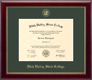 Utah Valley State College Diploma Frame - Gold Embossed Diploma Frame in Gallery