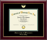 University of Wisconsin Green Bay Diploma Frame - Gold Embossed Diploma Frame in Gallery