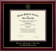 Virginia Tech Diploma Frame - Gold Embossed Diploma Frame in Gallery
