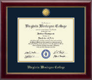 Virginia Wesleyan College Diploma Frame - 23K Medallion Diploma Frame in Gallery