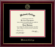 Wabash College Diploma Frame - Gold Embossed Diploma Frame in Gallery