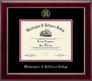 Washington & Jefferson College Diploma Frame - Gold Embossed Diploma Frame in Gallery