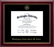 Washington University in St. Louis Diploma Frame - Gold Embossed Diploma Frame in Gallery