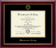 Westminster College in Missouri Diploma Frame - Gold Embossed Diploma Frame in Gallery