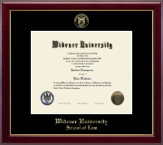 Widener University School of Law Diploma Frame - Gold Embossed Diploma Frame in Gallery