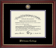 Williams College Diploma Frame - Masterpiece Medallion Diploma Frame in Kensington Gold