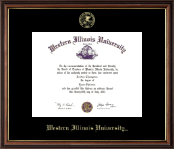 Western Illinois University Diploma Frame - Gold Embossed Diploma Frame in Williamsburg