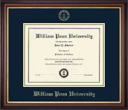 William Penn University Diploma Frame - Gold Embossed Diploma Frame in Regency Gold