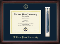 William Penn University Diploma Frame - Tassel Diploma Frame in Regency Gold