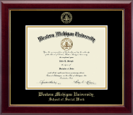 Western Michigan University Diploma Frame - Gold Embossed Diploma Frame in Gallery