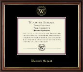 Wooster School in Connecticut Diploma Frame - Gold Embossed Diploma Frame in Williamsburg
