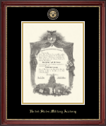 United States Military Academy Diploma Frame - Masterpiece Medallion Diploma Frame in Kensington Gold