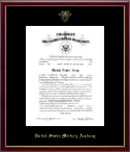 United States Military Academy Certificate Frame - Embossed Certificate Frame in Galleria