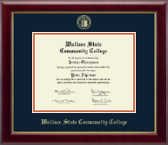 Wallace State Community College Diploma Frame - Gold Embossed Diploma Frame in Gallery
