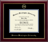 Western Washington University Diploma Frame - Gold Embossed Diploma Frame in Gallery