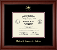 Wytheville Community College Diploma Frame - Gold Embossed Diploma Frame in Cambridge