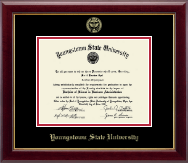 Youngstown State University Diploma Frame - Gold Embossed Diploma Frame in Gallery