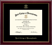 York College of Pennsylvania Diploma Frame - Gold Embossed Diploma Frame in Gallery