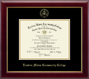 Eastern Maine Community College Diploma Frame - Gold Embossed Diploma Frame in Gallery