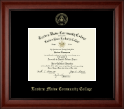 Eastern Maine Community College Diploma Frame - Gold Embossed Diploma Frame in Cambridge