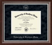 University of Southern Maine Diploma Frame - Silver Embossed Diploma Frame in Devonshire