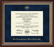 Pennsylvania State University Diploma Frame - Gold Embossed Diploma Frame in Hampshire