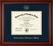 University of Southern Maine Diploma Frame - Gold Embossed Diploma Frame in Cambridge