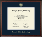 Georgia State University Diploma Frame - Gold Embossed Diploma Frame in Studio