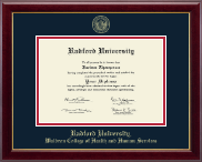 Radford University Diploma Frame - Gold Embossed Diploma Frame in Gallery